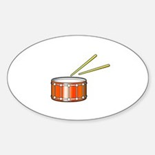 orange snare graphic with sticks Decal
