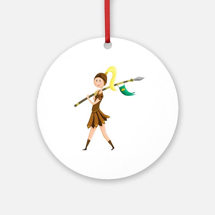 Warrior Princess Ornament (Round)