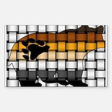 BEAR PRIDE BEAR-WOVEN Rectangle Decal