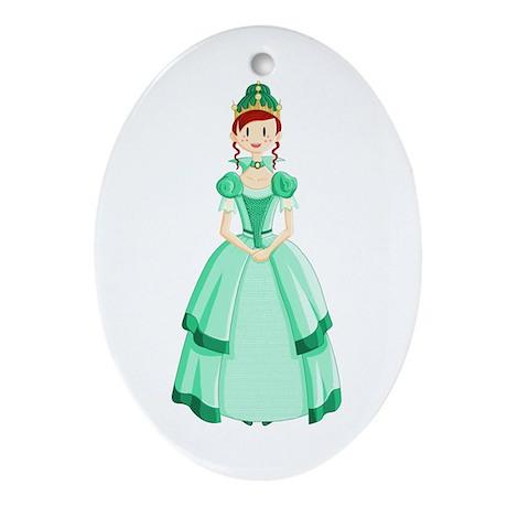 Green Princess Ornament (Oval)