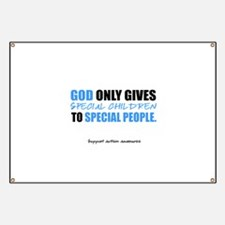 God Only Gives (Autism Awareness) Banner