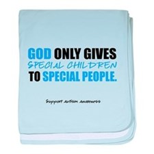 God Only Gives (Autism Awareness) baby blanket
