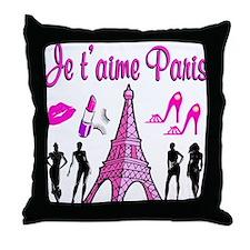 HELLO PARIS Throw Pillow