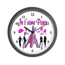 HELLO PARIS Wall Clock