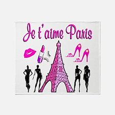 HELLO PARIS Throw Blanket