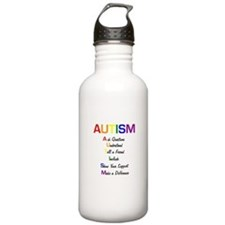 Autism Ask Questions Water Bottle