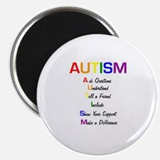 """Autism Ask Questions 2.25"""" Magnet (10 pack)"""