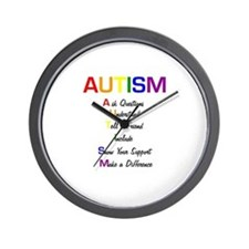 Autism Ask Questions Wall Clock