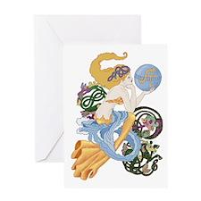 Celtic Afor Aquarius Mermaid Greeting Cards