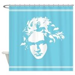 Ludwig Van Beethoven Classical Music Shower Curtai