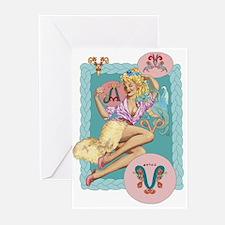 zodiac aries Greeting Cards