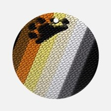 BEAR PRIDE DIAGONAL TEXTURE Ornament (Round)