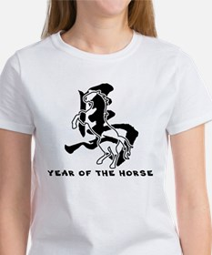Chinese Zodiac Year of The Horse Sign Women's T-Sh