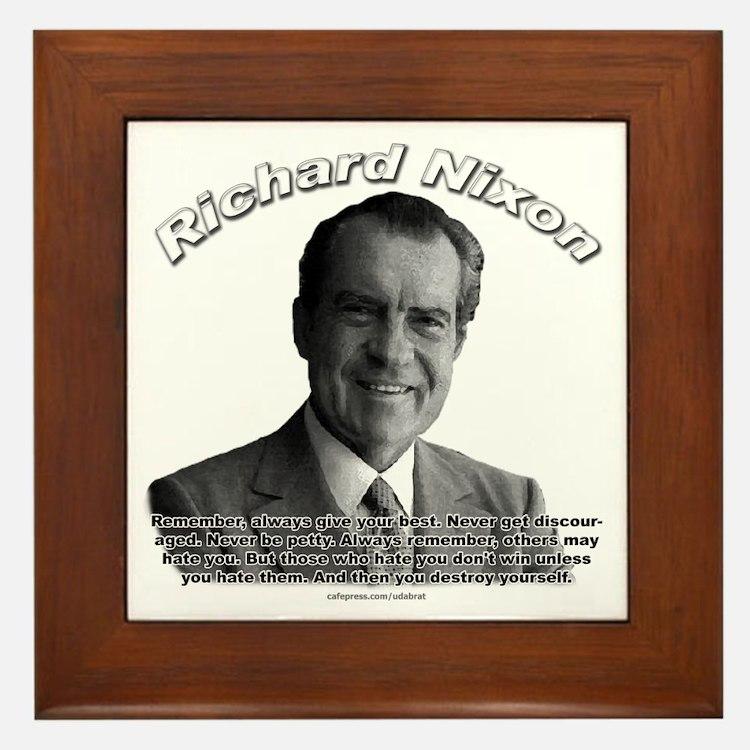 Richard Nixon 02 Framed Tile