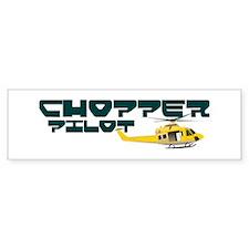 Chopper Pilot Bumper Car Sticker