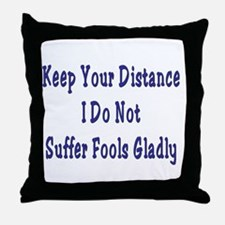 Keep Your Distance Throw Pillow