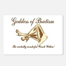 Goddess of Bratism Sexy Postcards (Package of 8)