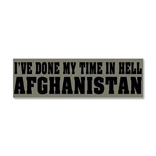 Afghanistan - Hell Car Magnet 10 x 3