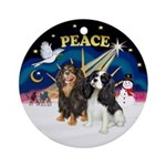 XSunrise-PEACE - Two Cavaliers Ornament (Round)
