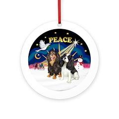 XSunrise-PEACE - Two Cavaliers Ornament (Round)