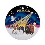 XSunrise-Four Cavaliers Ornament (Round)