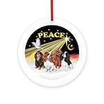 XDove-PEACE-4Cavaliers Ornament (Round)