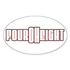 Four Oh Eight Oval Decal