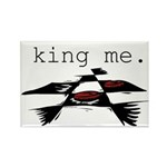 KING ME Checkers Rectangle Magnet