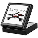 KING ME Checkers Keepsake Box