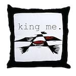 KING ME Checkers Throw Pillow