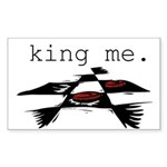 KING ME Checkers Rectangle Sticker