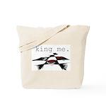 KING ME Checkers Tote Bag