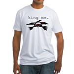KING ME Checkers Fitted T-Shirt
