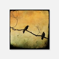 """Two Crows On A Branch Square Sticker 3"""" x 3"""""""