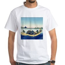 Hokusai Sunset across the Ryogoku bridge T-Shirt