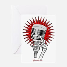 Rockabilly Microphone Greeting Card