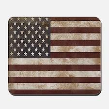 Vintage American Flag King Duvet 1 Mousepad