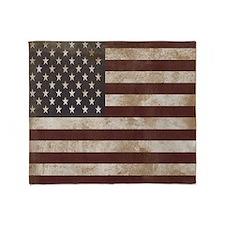Vintage American Flag King Duvet 1 Throw Blanket