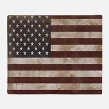 Vintage American Flag King Duvet 1 Throw Blanket