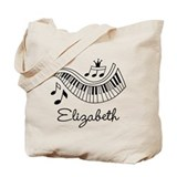 Piano student Canvas Tote Bag