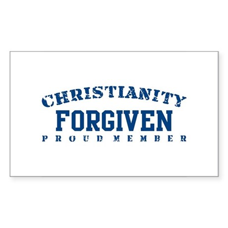 Forgiven - Christianity Rectangle Sticker