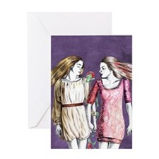 Snow White and Rose Red Greeting Card