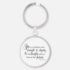She is Clothed with Strength  Dignity Keychains