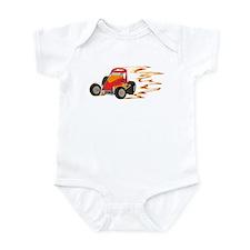 Wingless Flaming Sprint Infant Bodysuit
