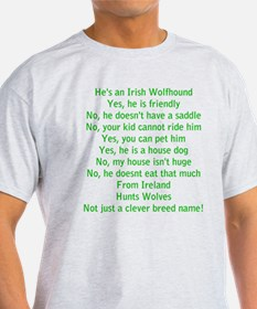 Wolfie Questions Answered (he) T-Shirt