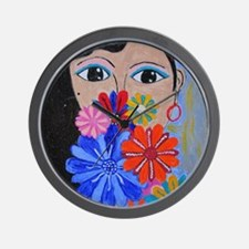 Smell the Flowers Wall Clock