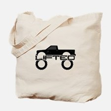 Lifted Pickup Truck Tote Bag