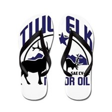 Two Elk Motor Oil Flip Flops
