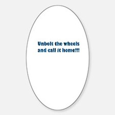 Trailer Wheels Oval Decal