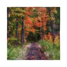 Fall Nature Trail Queen Duvet